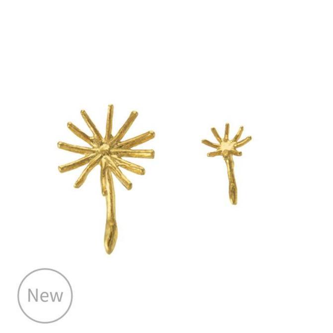 Asymmetric Dandelion Fluff Earrings