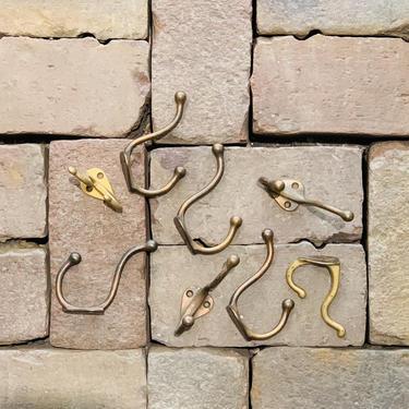 Single Vintage Brass Coat Hook | Vintage Metal Hook | Solid Hat Hook | Entryway Hook | Coat Hooks | Vintage Closet Hook | Coat Rack Hook by PiccadillyPrairie