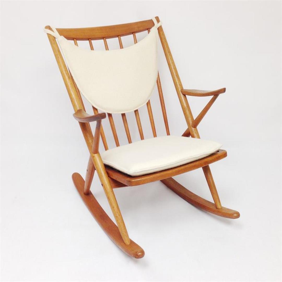 Frank reenskaug rocking chair - Frank Reenskaug Danish Teak Rocking Chair By Brahmin From Modern Montage Attic