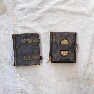 Pair of Antique Victorian Era CDV Photo Album w/Photos & Tin Types by NorthGroveAntiques