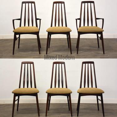"Koefoeds Hornslet Rosewood ""Eva"" Dining Chairs- Set of 6 by mixedmodern1"