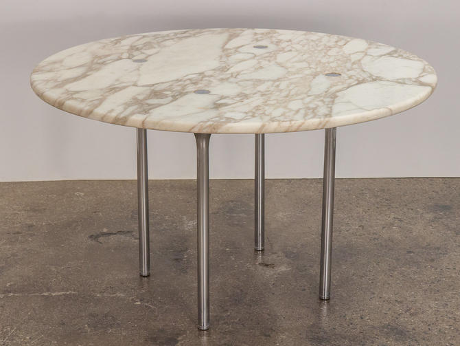 Erwine & Estelle Laverne Marble Dining Table by openairmodern
