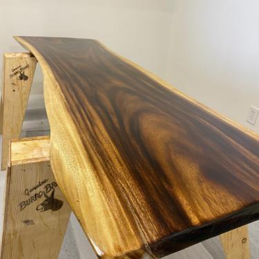 UMBUZÖ Live Edge Desk, Solid Live Edge Slab Dining Table or Desk by UmbuzoRustic