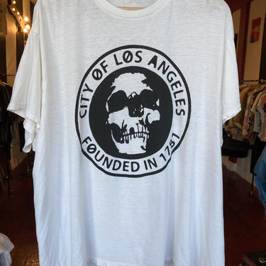 Los Angeles paper thin tee 2XL by GimmeDangerLA