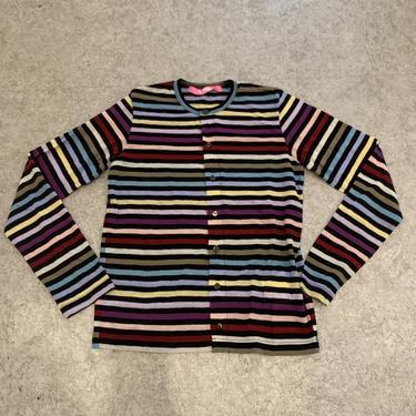 Junya Watanabe PINK Striped Cardigan