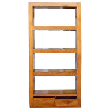 Natural Wood Orient Fusion Display Book-Shelf Cabinet ss843E by GoldenLotusAntiques