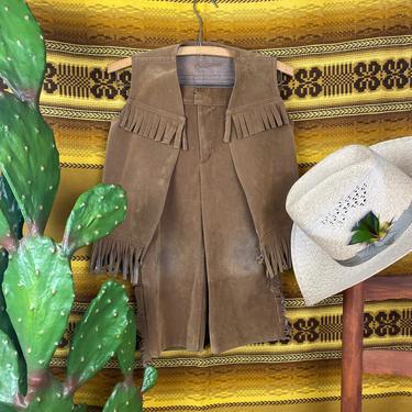 Vintage Handmade Kids Western Outfit Fringe Vest and Pants by DesertCactusVintage