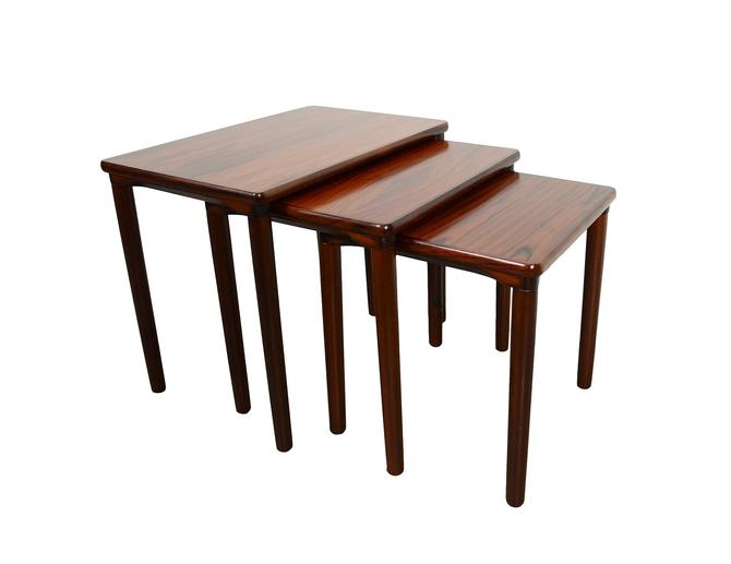 Rosewood Nesting Tables Danish Modern Mid Century Modern by HearthsideHome