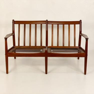 Danish Teak Love Seat (Frame Only) by Grete Jalk for Glostrup Møbelfabrik, Circa 1960s - *Please ask for a shipping quote before you buy. by CoolCatVintagePA