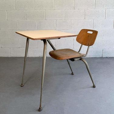 Raymond Loewy For Brunswick Attached School Desk Chair Set