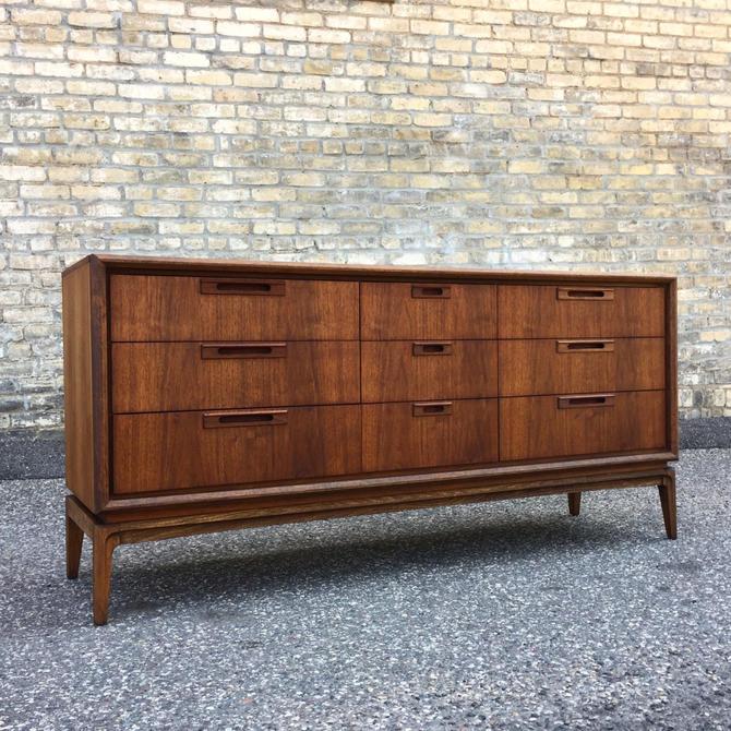 Restored Mid-century Modern Walnut Lowboy Dresser