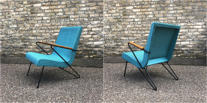 Wicker + Iron Scoop Accent Chair
