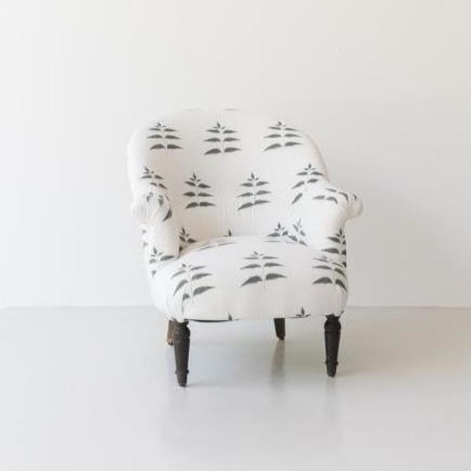 Vintage Block Print Crapaud Chair
