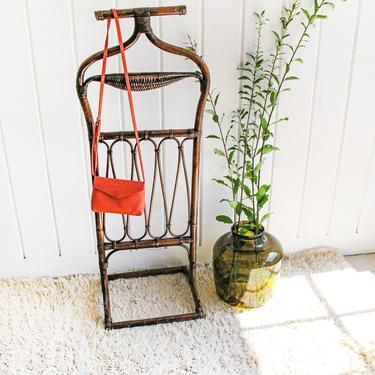 Vintage Rattan and Bamboo Butlers Stand by PortlandRevibe