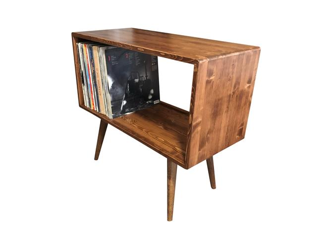 Mid Century Modern Record Player Stand Record Console by OrWaDesigns