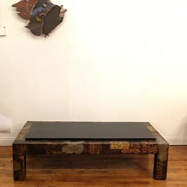 PAUL EVANS PATCHWORK AND SLATE COFFEE COCKTAIL TABLE