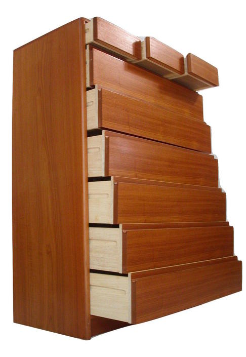 Teak Danish Modern Tallboy bedroom Tall Dresser Credenza From Nordisk Nr MINT
