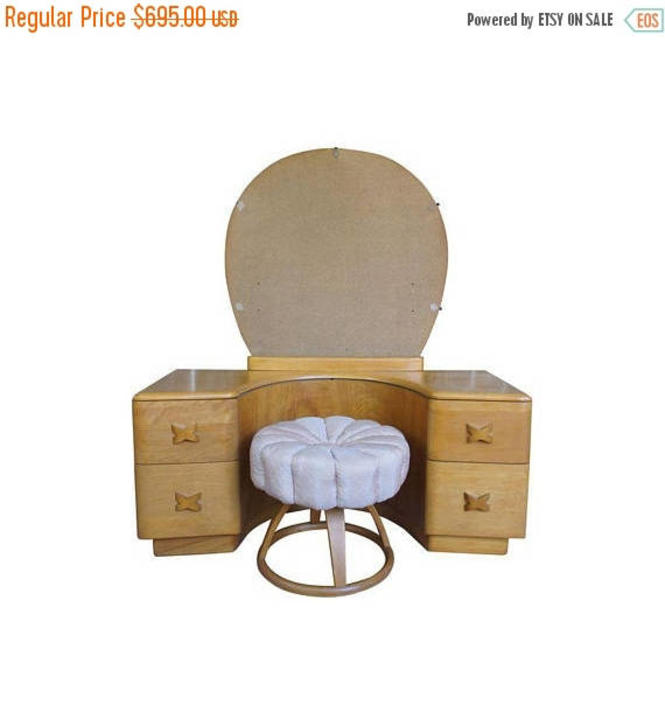 20% OFF Heywood Wakefield Rio Champagne Maple Vanity & Stool