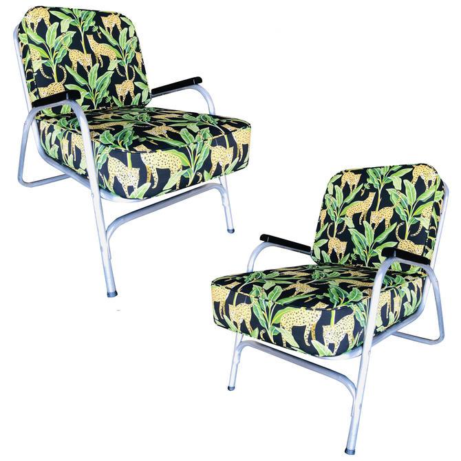 Mid Century Aluminum Patio/Outdoor Lounge Chair, Pair by HarveysonBeverly