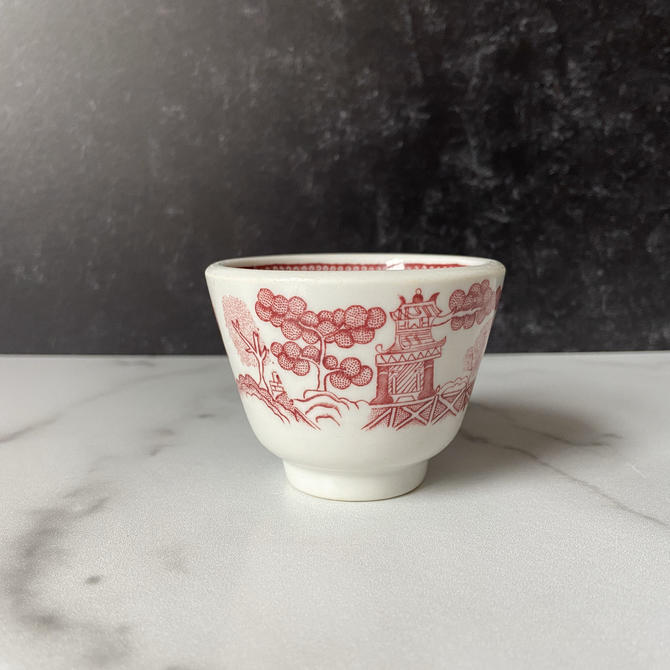 Vintage Red Willow Restaurant Ware Custard Cups - from Jackson China by theHeirloomYard