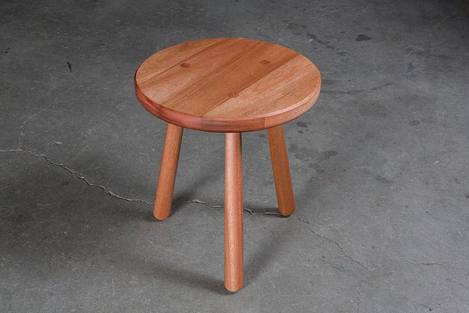 Round Mahogany End-Table // by Kyle D'Auria // mid century modern side table by kyledauria