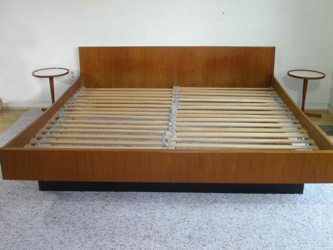King Size Danish Modern Teak Platform Bed By W&B Mobler by RetroSquad