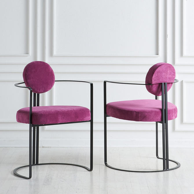 Pair of Postmodern Accent Chairs
