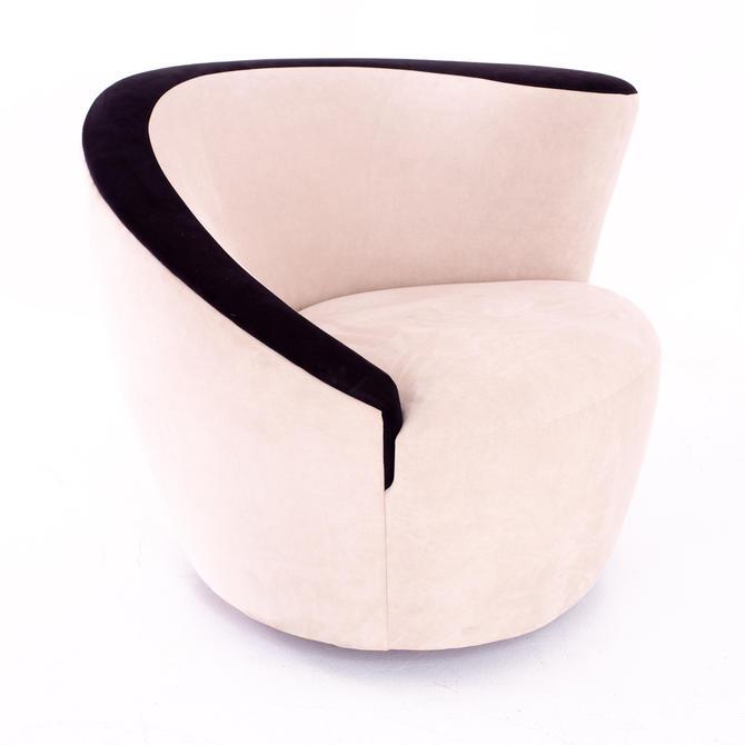 Vladimir Kagan Mid Century Nautilus Style Lounge Chair - mcm by ModernHill