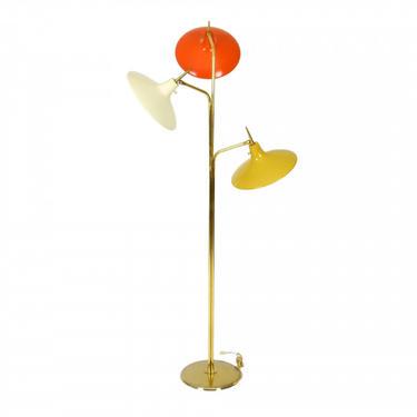 Laurel Brass and Enamel Floor Lamp