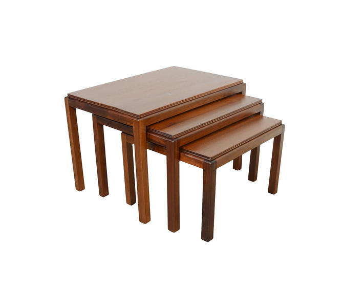 Mahogany Nesting Tables designed Gordon Russell, Russell of Broadway by Mid Century Modern by HearthsideHome