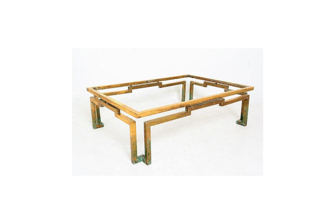 Modernist Arturo Pani Geometric Greek Design Coffee Table in Brass Mexico 1950s by AMBIANIC