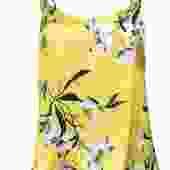 Amanda Uprichard - Yellow Floral Print Strappy Silk Tank Sz M