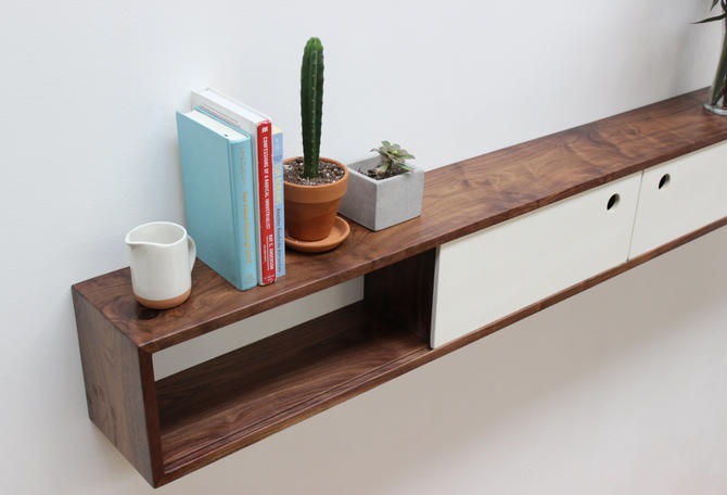 Long Floating Console / Bar Wall / Headboard by ImagoFurniture