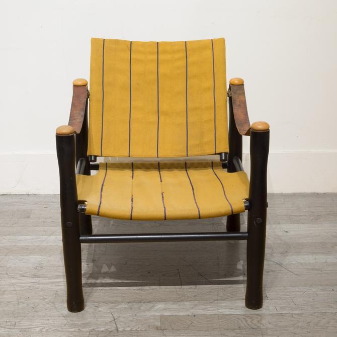 Mid-century Elias Svedberg for Nordiska Kompaniet Trivia Safari Chair c.1950s
