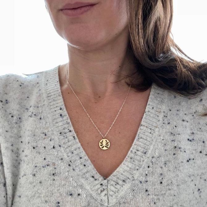 Gold Laurel Necklace by Sarah Cecelia by SarahCecelia