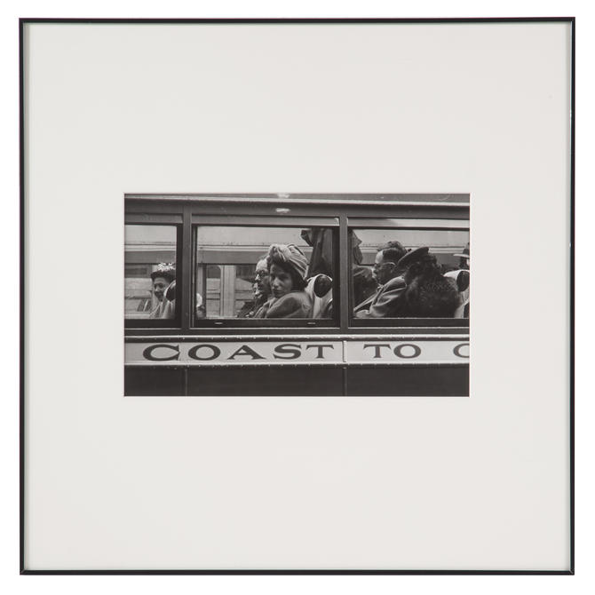 "Esther Bubley. ""Greyhound Bus Passengers"""