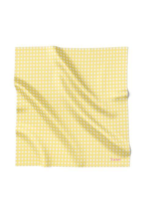 Blake Bandana | Pale Yellow Gingham in Polished Cotton