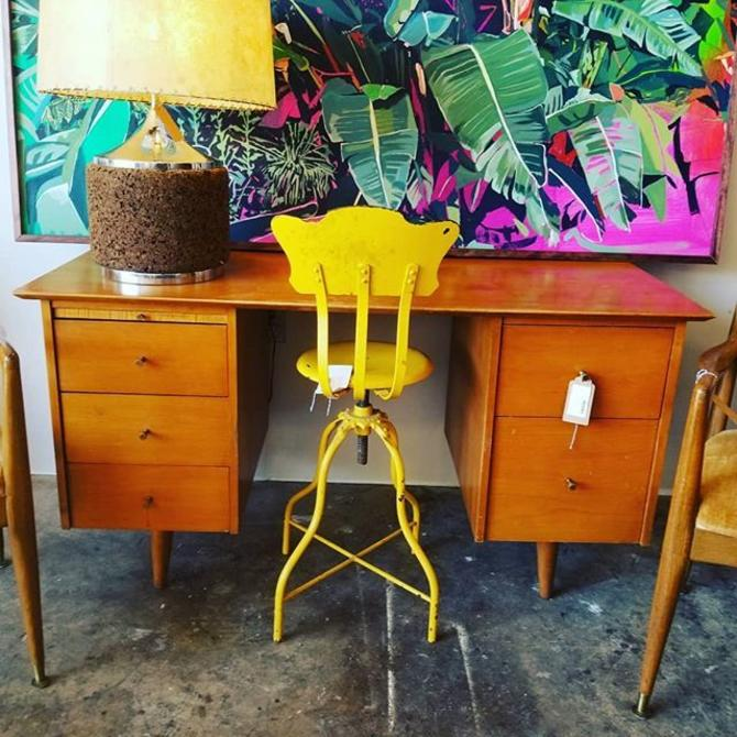 MCM walnut desk attributed to paul mccobb $500.