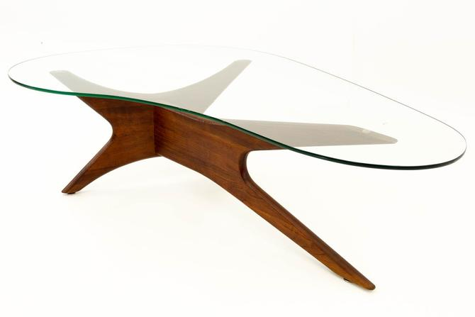 Adrian Pearsall Sculptural Walnut Kidney Shaped Mid Century Modern Coffee Table - mcm by ModernHill
