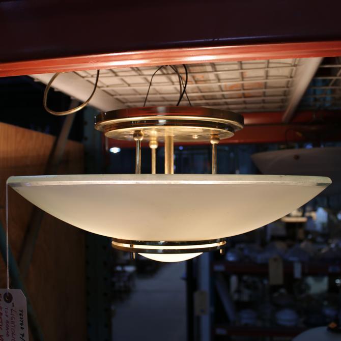 Vintage Semi Flush Mount Bowl Light by Lightolier