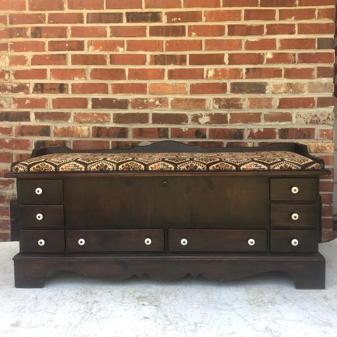 Vintage Lane Bench or Storage Chest by secondhandstory
