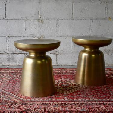 Mid Century Modern Metal END TABLES / Pedestal Stands / Nightstands / Side Tables by CIRCA60