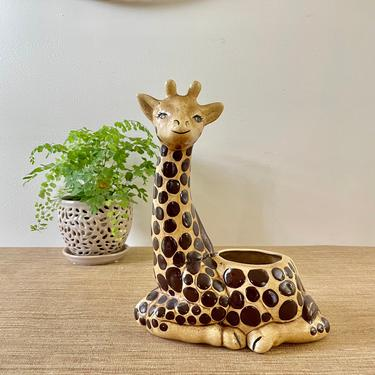 Vintage Giraffe Planter - Ceramic Giraffe Planter - Animal Planter- Ceramic Planter - Jungle Decor - Jungalow Style by SoulfulVintage