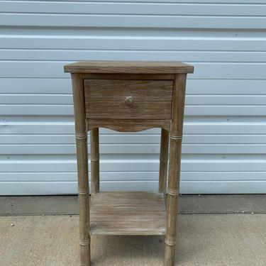 Faux Bamboo Nightstand Vintage Thomasville Allegro Bedside Table Accent End Side Chippendale Beachy Chinoiserie Boho Chic Bohemian Rustic by DejaVuDecors