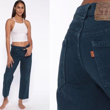 Navy Blue Levi Jeans 30 -- 90s Levis Mom Jeans High Waist Jeans 80s Jeans Denim Pants Levis 560 Vintage Straight Leg 90s Medium 30 by ShopExile