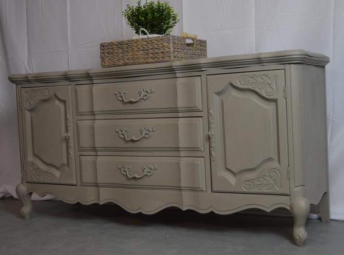French Provincial Buffet Table Server Credenza By Uniquebyruth