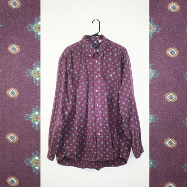 Vintage 1990s Purple Dad Shirt by GuavaNectarVintage