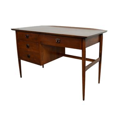 Walnut Desk Bassett Furniture  Mid Century Modern by HearthsideHome