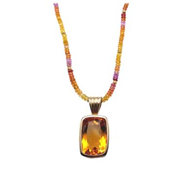 DMD Fine - Sapphire Necklace + Fine Citrine