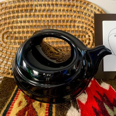 "Black ceramic ""water pitcher"" by FrankiesVintageTrunk"